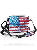 Сумка через плечо американский флаг