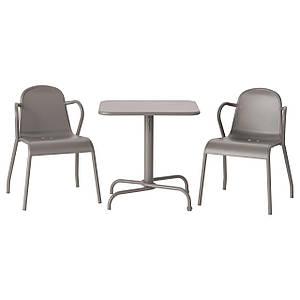 TUNHOLMEN Стол+2 стула, на открытом воздухе, серый