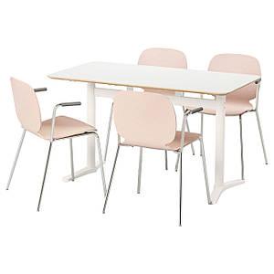 BILLSTA /SVENBERTIL Стол и 4 стула, белый, береза