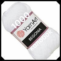 YarnArt- Begonia (бегония)-1000 оптик(супер  белый)