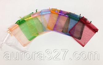 Прозрачные цветные мешочки из органзы