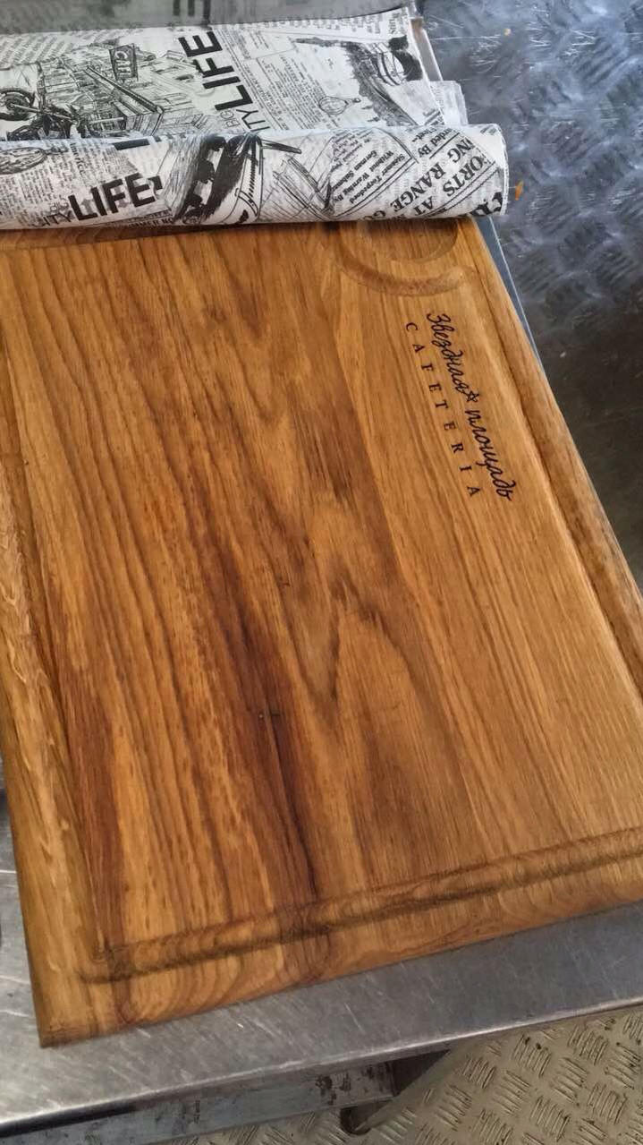 Поднос-тарелка из дерева