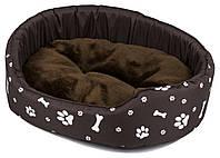 Лежак-кровать для собаки кошки из ткани