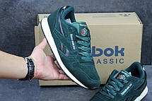 Кроссовки мужские Reebok Classic замшевые зеленые 43р, фото 3