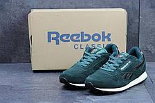 Кроссовки мужские Reebok Classic замшевые зеленые 43р, фото 2