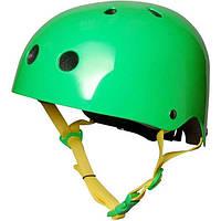 Шлем детский KiddiMoto неоновый зелёный, размер M 53-58см