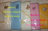 Махровое полотенце-уголок для купания детей + рукавичка Состав: 100% хлопок (махра)