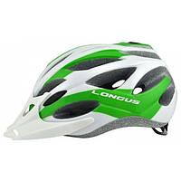 Шлем Longus AVIAX InMold белый/зеленый, сетка, размер S/M, 54-58см