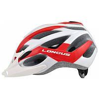 Шлем Longus AVIAX InMold белый/красный, сетка, размер S/M, 54-58см
