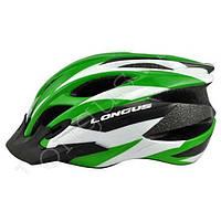 Шлем Longus ERTURIA InMold, зеленый, сетка, размер S/M, 52-58см