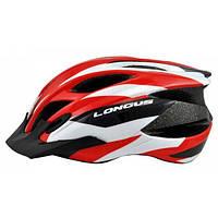 Шлем Longus ERTURIA InMold, красный, сетка, размер S/M, 52-58см