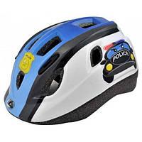 Шлем детский Longus VORM Police, синий, размер 48-56см