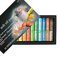 Пастель масляная мягкая, Mungyo, MOPV-12, 12 цветов, фото 1