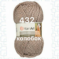 Пряжа для ручного вязания YarnArt Alpine Alpaca (Альпин альпака)толстая зимняя пряжа нитки 432 беж