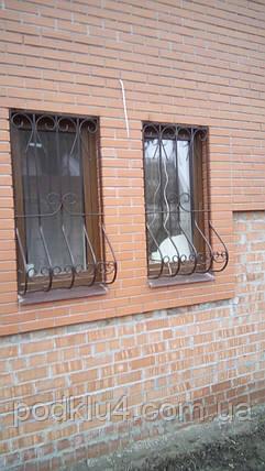 Грати віконні декоративні зі збільшеним нижнім радіусом, фото 2