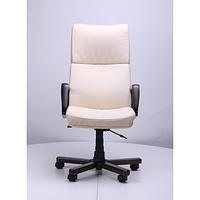 Кресло Техас Экстра орех Кожа Люкс комбинированная Ваниль (AMF-ТМ)