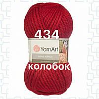 Пряжа для ручного вязания YarnArt Alpine Alpaca (Альпин альпака)толстая зимняя пряжа нитки 434 красный