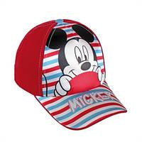 Детская бейсболка Микки красная, Дисней (Disney)