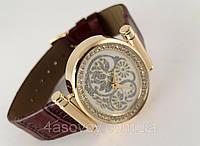 Часы женские Alberto Kavalli золотистые узоры, восточный стиль, овальные