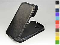 Откидной чехол из натуральной кожи для Samsung i9082 Galaxy Grand Duos