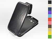Откидной чехол из натуральной кожи для Samsung i8552 Galaxy Win Duos