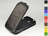 Откидной чехол из натуральной кожи для Samsung i8262 Galaxy Core