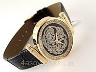 Часы женские Alberto Kavalli  восточный стиль, овальные, золото на мгле
