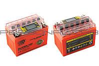 АКБ 12V 4А гелевый (оранжевый, с индикатором заряда, вольтметром)