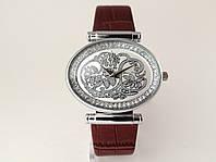 Часы женские Alberto Kavalli  восточный стиль, овальные, серебристый