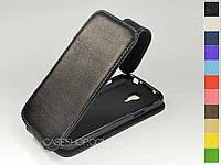 Откидной чехол из натуральной кожи для Samsung i9192 Galaxy S4 Mini Duos