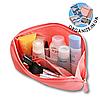 Органайзер для флешек, жестких дисков/дорожная косметичка (розовый)