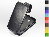 Откидной чехол из натуральной кожи для Samsung i8160 Galaxy Ace 2