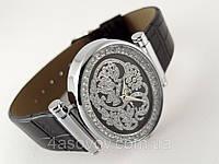 Часы женские Alberto Kavalli  восточный стиль, серебристый на черном