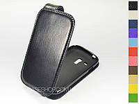 Откидной чехол из натуральной кожи для Samsung i8190 Galaxy S3 Mini