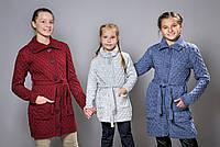 Детский вязаный кардиган с пуговицами для девочки