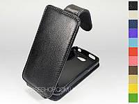 Откидной чехол из натуральной кожи для Samsung Omnia W i8350