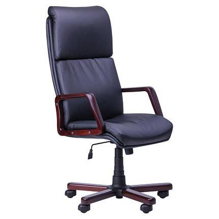 Кресло Техас Экстра вишня Кожа Сплит черная (AMF-ТМ), фото 2