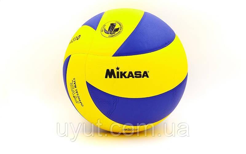 Мяч волейбольный Клееный PU MIK  MVA-310 (PU, №5, 5 сл., клееный)