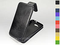 Откидной чехол из натуральной кожи для Samsung i8750 Ativ S