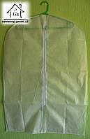 Чехол для одежды 90х60 см на молнии 005 (белый)
