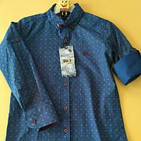 Рубашка длинный рукав для мальчиков 110-128
