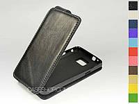 Откидной чехол из натуральной кожи для Samsung i9100 Galaxy SII