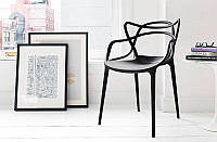 Стул Masters Chair, черный пластик PP, дизайнPhilippe Starck