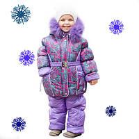 Зимний комбинезон с курткой для девочки