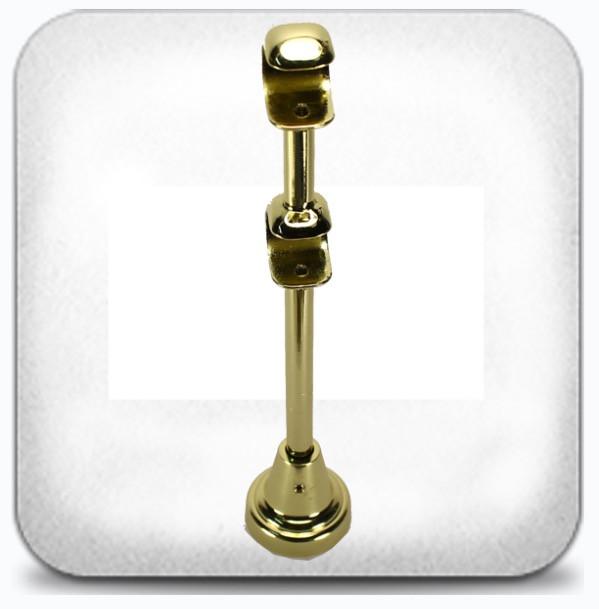 Кронштейн двойной открытый д.25+16мм золото