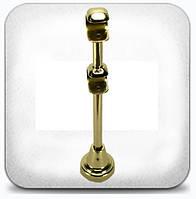 Кронштейн двойной открытый д.25+19мм золото