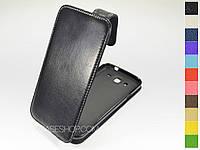 Откидной чехол из натуральной кожи для Samsung Galaxy Mega 5.8 Duos i9152