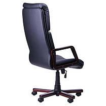Крісло офісне Техас Екстра Вишня механізм Tilt, шкірозамінник Неаполь N-20 (AMF-ТМ), фото 3