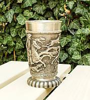 Большой оловянный бокал, пищевое олово, Германия, королевская охота, фото 1