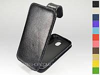 Откидной чехол из натуральной кожи для Samsung i9250 Galaxy Nexus